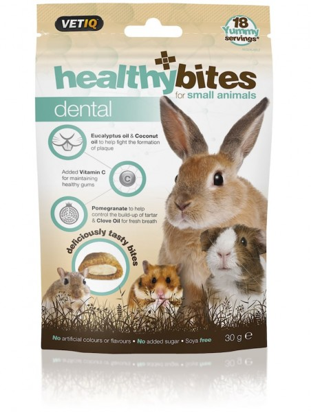 Vetiq Przysmaki dla gryzoni zęby Healthy Bites Dental for Small Animals 30g